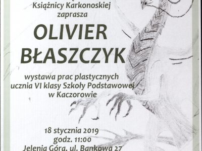Wystawa prac plastycznych Oliviera Błaszczyka