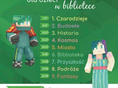 Minecraft dla dzieci – wakacyjne warsztaty w bibliotece. Spotkanie 1: Czarodzieje